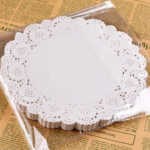 Vintage 50 Pc/Pack 6.5 Inch White Paper Placemat Lace Doilies Card Making Wedding Decoration Doily Favors Cake Dessert Bread Pad(China)