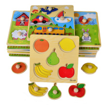 Wooden Animals Knob Puzzle