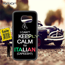 i cant keep calm am italian soft TPU edge cell phone cases for samsung s6 plus s7 s8 s9 s10 lite e note8 note9