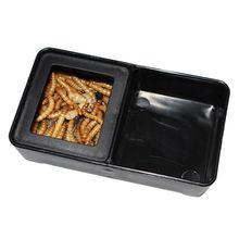 Черный пластик рептилии воды пищевой ящик Террариум для кормления разведение насекомых черепаха домашнее животное Хэллоуин или Рождественский подарок