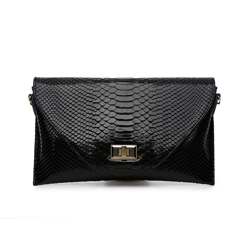 Women Clutch Bag Snake Python Pattern Genuine Cow Leather Daily Clutch Wallets Fashion Wristlet Phone Purse