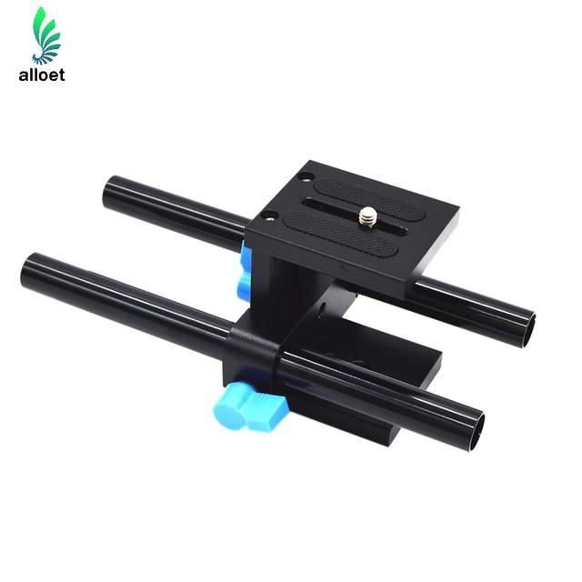High Quality 15mm Rail Rod Support System Baseplate Mount for canon DSLR Follow Focus Rig 5D2 5D 5D3 7D