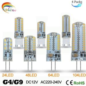5pcs New COB led g4 led 12v 3 W 5W 6 W 8W 10W 12W g4 luz de la lamp para la lamp de cristal G4 luces leds lamp SMD 24/48 bombill