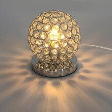 Современная настольная декоративная Хрустальная настольная лампа E27 держатель лампы 110-240 В освещение для гостиной/спальни/прикроватной тумбы