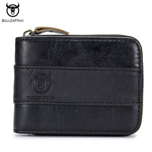 Image 5 - BULLCAPTAIN Top Quality Cow Genuine Leather Men Wallets Fashion Joint Purse Dollar Carteira Masculina Design Credit Card Holder