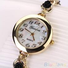 Women's Geneva Luxury Faux Pearl Flower Bracelet Quartz Analog Dress Wrist Watch 23FY
