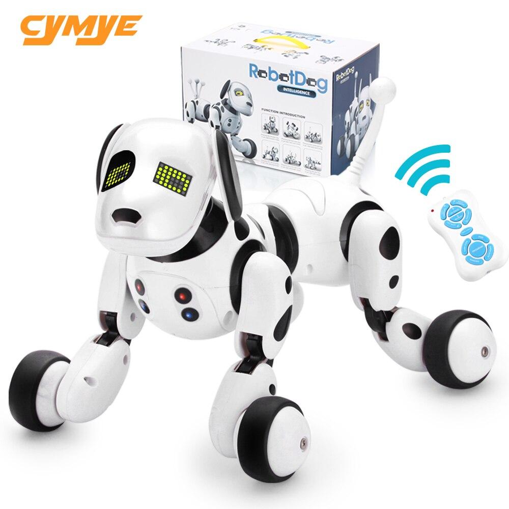 Cymye Robot chien électronique Pet Intelligent chien Robot jouet 2.4G Intelligent sans fil parlant télécommande