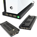 X-one S cooling Fan stand Base Holder Cooler Vertical Stand 2 Cooler,1USB and 2 HUB For x-one Slim Xbox One Slim console