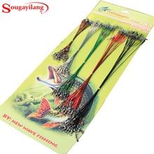 Sougayilang 60PCS/100Pcs Metal Fishing Line accessories Fishing Ropes Spinner Leader Hooks Swivel Interlock Snaps