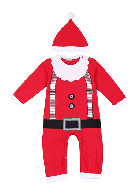 b6909599248b3 Quality Newborn Santa Claus Christmas Romper Outfit