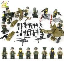 8 Pçs/set EUA Exército Combate Militar WW2 Soldados Blocos De Construção Compatível Legoed Figuras Pacote Armas Tijolos Brinquedos Para As Crianças