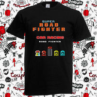 New Game Super Road Fighter Car Racig Men S Black T Shirt Size S To 3XL