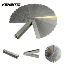 Vehemo заполнитель из нержавеющей стали измерительный щуп SAE измерительный инструмент с двойной маркировкой для точного зазора метрические линейки для нержавеющей стали