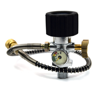 PCP Air Fill Adapter Carbon Fiber Cylinder Filling to Small Tank With 50cm Spring Wrapped Hose and Air Bleeder
