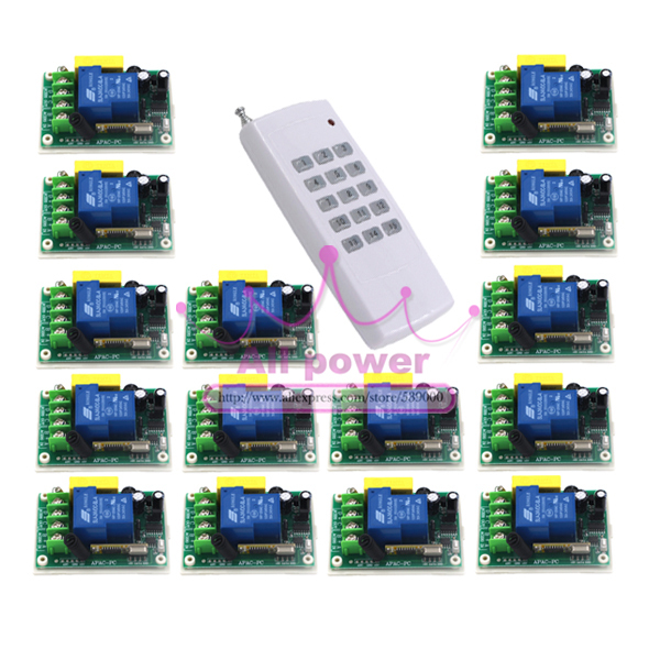 AC220V 30A 1000M 1 Channel Wireless Remote Control Switch Relay for Water Pump ac220v 30a 1000m 1 channel wireless remote control switch 3000w high power relay 15 receiver for water pump sku 5512