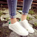 2016 Summer Style White Women Sneaker High Quality PU Shoes Women's Casual Shoes Woman Lace-Up Flats zapatillas deportivas