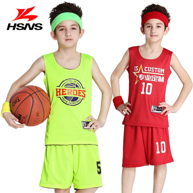 824f5ffa4 placeholder Reversible Kids Basketball Jerseys Uniforms Children Team Sport  Tracksuits Boy Trainning Shirt   Shorts Sets Custom