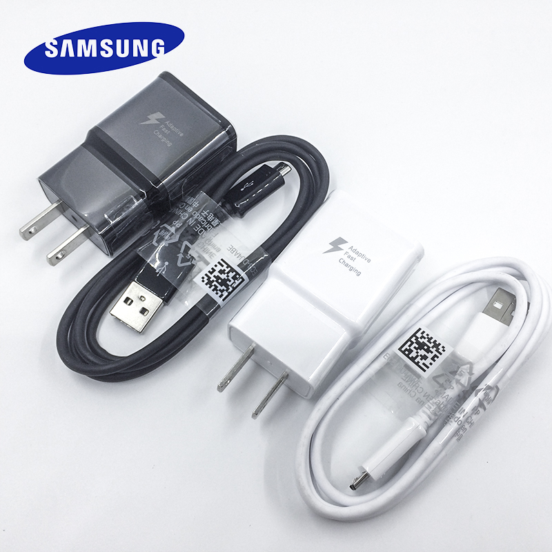 Samsung Adapter Note Micro-Usb-Cable Us-Plug S7-Edge Quick Galaxy 1 For S6 A3 A5 A7 9V