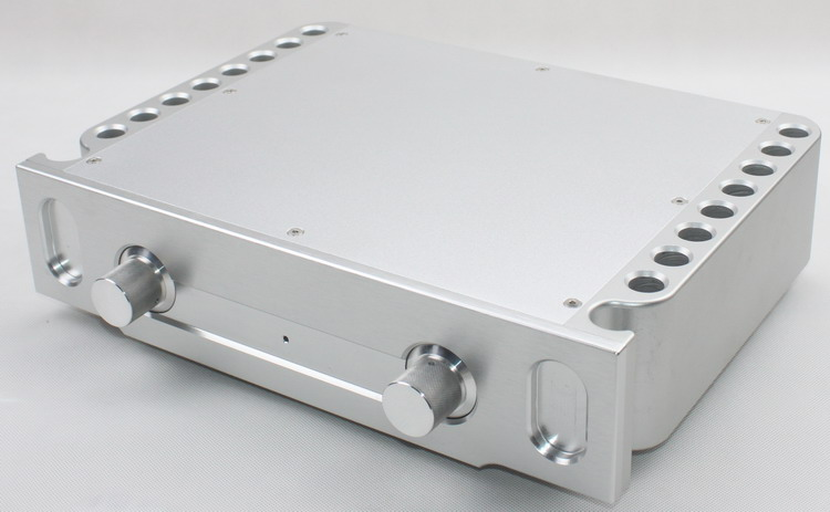 DIY case 360*86*270mm WA69 Full aluminum amplifier chassis / Preamp / Class A amplifier / Tube / AMP Enclosure / case / DIY box 3206 amplifier aluminum rounded chassis preamplifier dac amp case decoder tube amp enclosure box 320 76 250mm