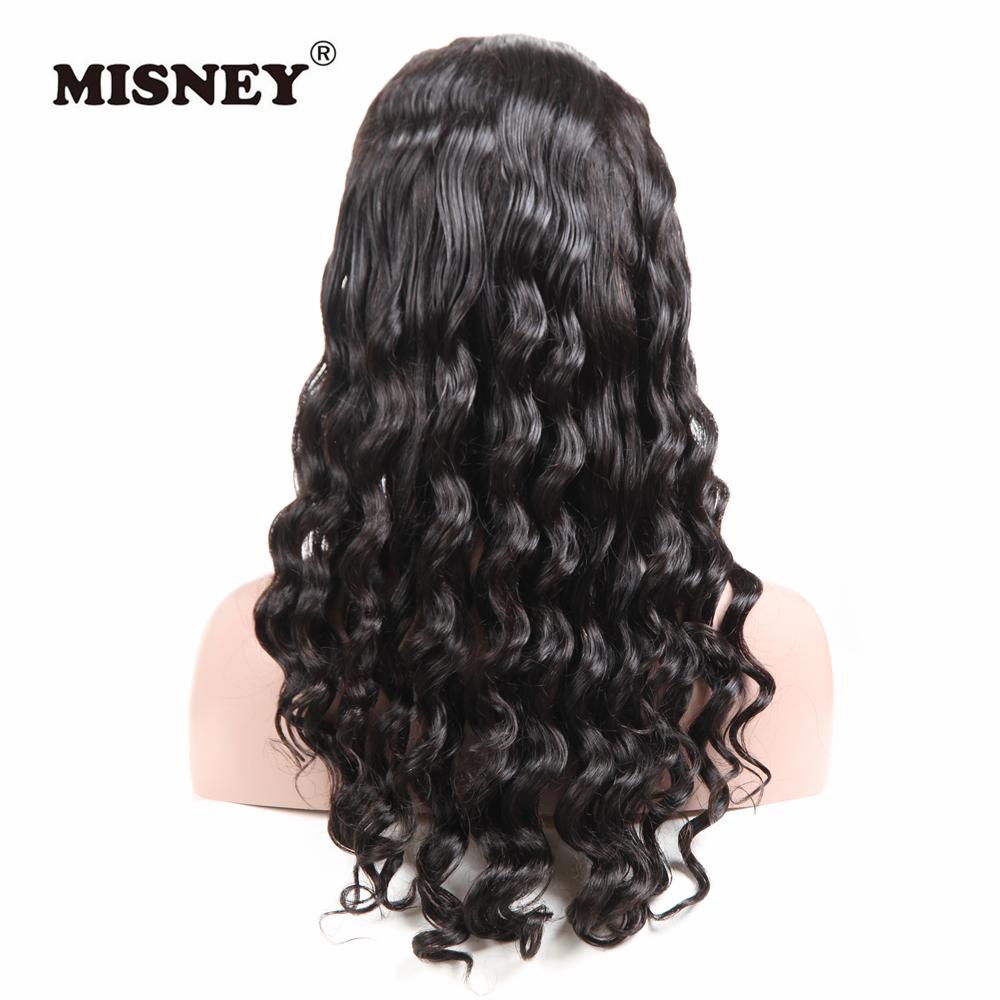 Misney Non Remy 13x6 Lace Front Wig Brazilian Human Hair Wig Loose Wave With Baby Hair for Black Women