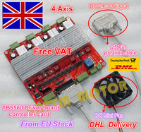 4 Axis TB6560 Stepper Motor Driver CNC Controller Board V Type