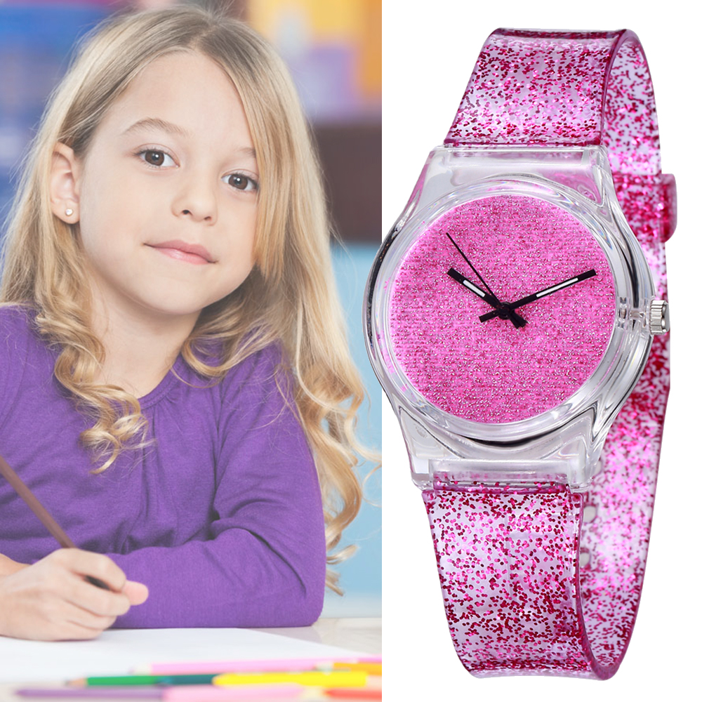 Top Brand Montre Enfant Children Pink Strap Watch Princess Watches Fashion Kids Cute Relogio Hodinky Quartz WristWatch Girl Girl