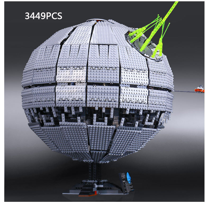 Hot movie Space Star War Rogue One Death Star II Building Block Model lepins Bricks 10143 Toys with display rack collection hot classic movie pirates of the caribbean imperial warships building block model mini army figures lepins bricks 10210 toys