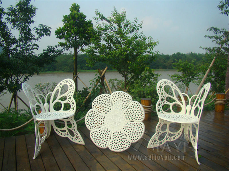 High Quality 4 Piece Butterfly Cast Aluminum Dining Chair And Table Patio Furniture  Garden Furniture Outdoor Furniture In Garden Sets From Furniture On  Aliexpress.com ...