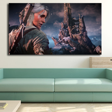 The Witcher 3 Wild Hunt Ciri Wall Art Canvas Poster And Print Canvas Painting Decorative Picture For Modern Bedroom Home Decor все цены