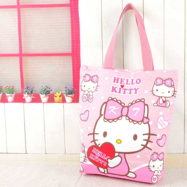 Kawaii Hello Kitty Melody Reusable Canvas Shopping Bag Shoulder Bags  Foldable Folding Grocery Bags Large Eco a9f3100991