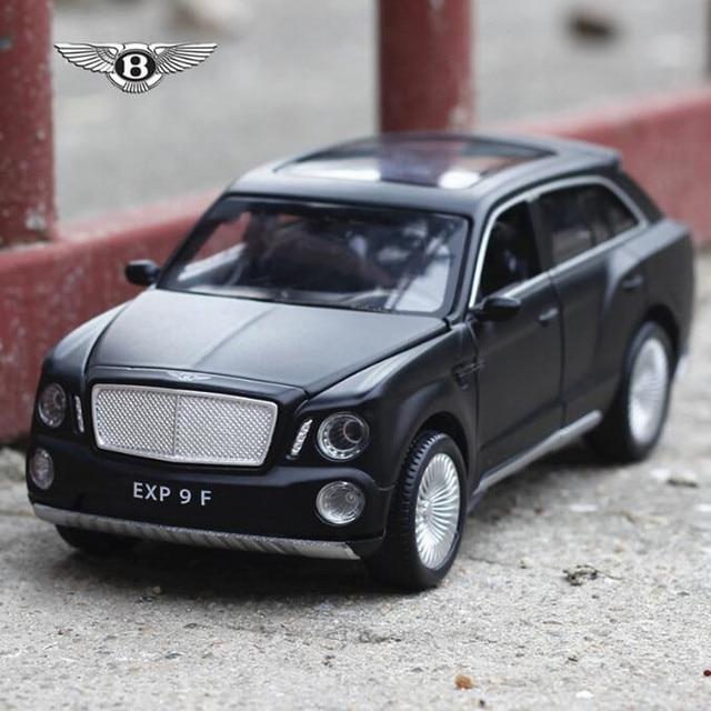 Tire volver modelos de coches Bentley SUV de Lujo Modelo de coche 1:32 sonido y luz de Simulación de coches De juguete modelos de automóviles de automóviles de coleccion