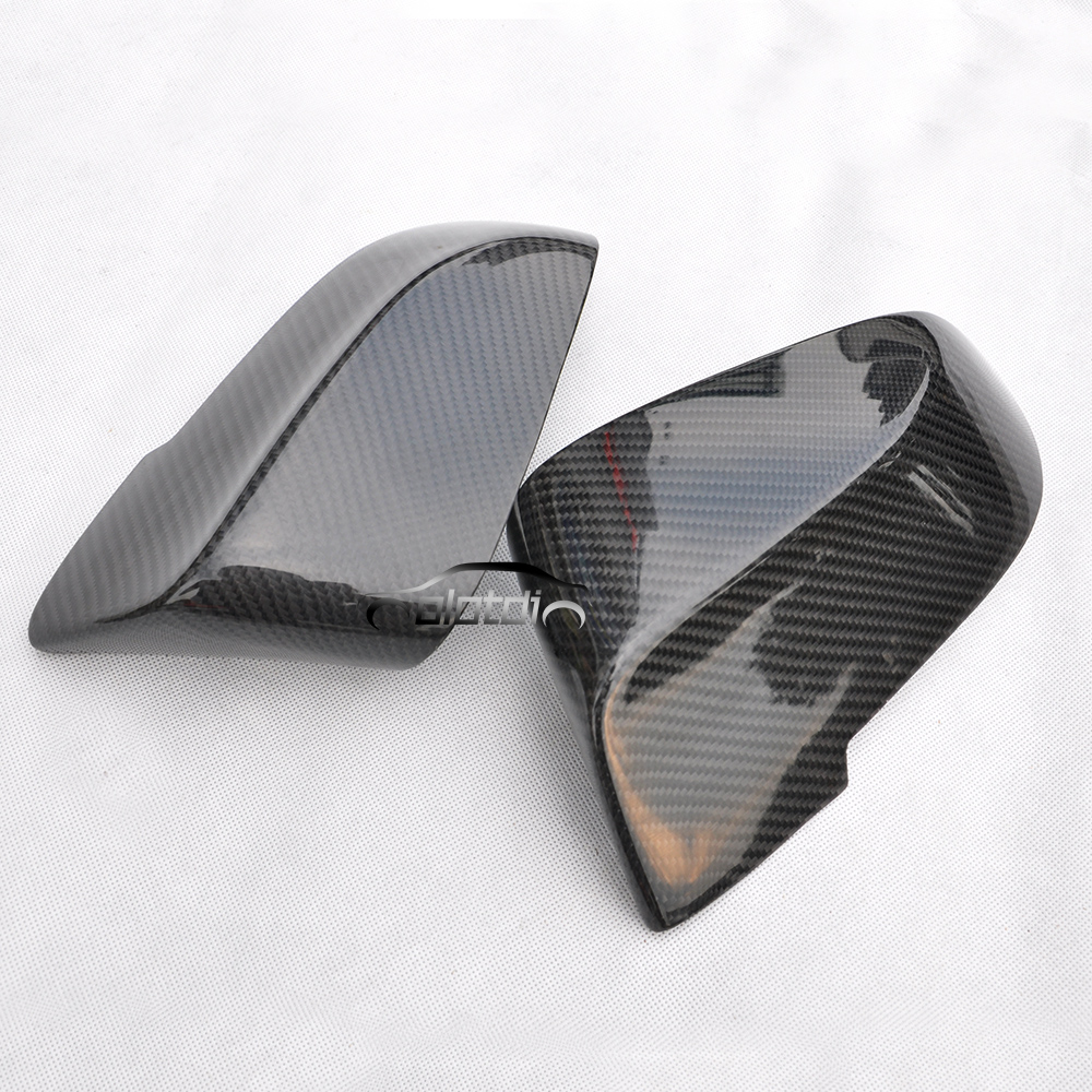 OLOTDI for BMW F10 F11 2014-2017 Carbon Fiber Rearview Door Side Wing Mirror Cover Cap Cover Stickers