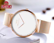 Top Brand OLMECA Relogio Feminino Waterproof Watches Womens Luxury Wristwatches Simple Dial-Replaceable Classic