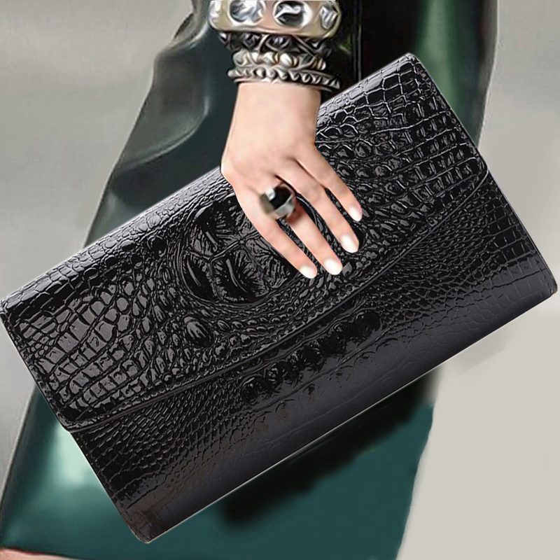 2018 Gold Chain Clutch Bag For Lady Women's Handbag Fashion Envelope Bag Party Evening Clutch Bags Black Purse Day Clutch(China)