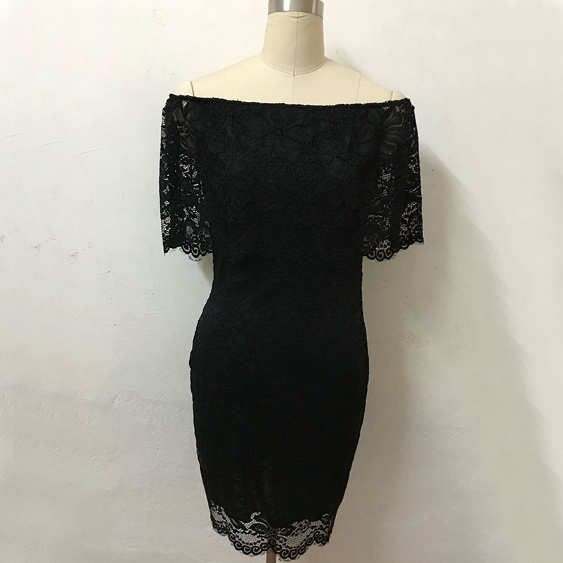 MUXU fashion black lace bodycon dress patchwork sexy clothes sundress womens clothing summer backless pencil dress vestidos in Dresses from Women 39 s Clothing