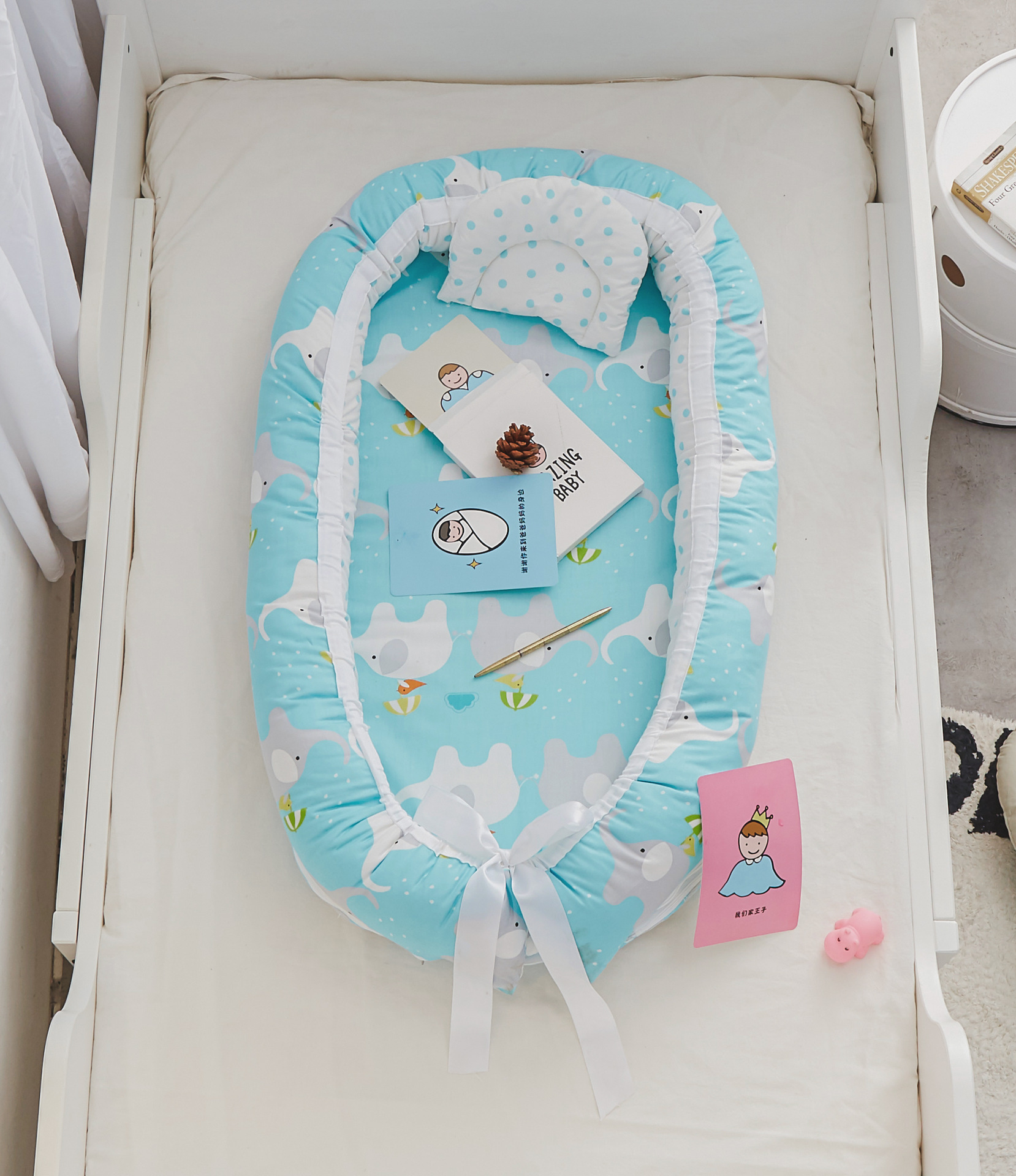 Explosive Baby Portable Bed In The Bed Removable And Washable Multi-purpose Crib Baby Bionic Bed Imitation Uterus Bed
