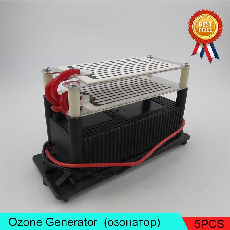 5PCS/Lot Low Energy Ozone Generator Low Maintenance 7g (7000mg) Air Purifier 220V Air Lonizer lightweight O3 Ozone Generator 2pcs lot low energy ozone generator deodorizer 3 5g 3500mg air purifier sterilizer air lonizer lightweight low energy