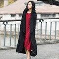 Verragee Зима Шерстяные Пальто Куртки Верхняя Одежда Женщин Черный Тонкий X Долго Шерстяное Пальто Случайный Толстый Плюс Размер Пальто Куртка Шинель