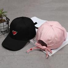 Summer baseball Hip Hop cap Unisex Snapback Fashion Simple Sweet Cap Embroidered Love Female Hat Adjustable bone Garros