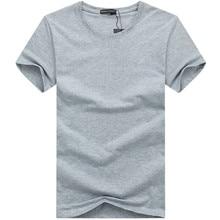 Simple creative design line solid color cotton T Shirts Men's