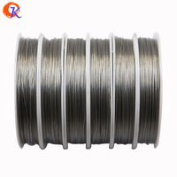 Free Shipping 0 45MM 3Rolls Lot Silver Tiger Tail Wire For Chunky Necklace Making For Jewelry