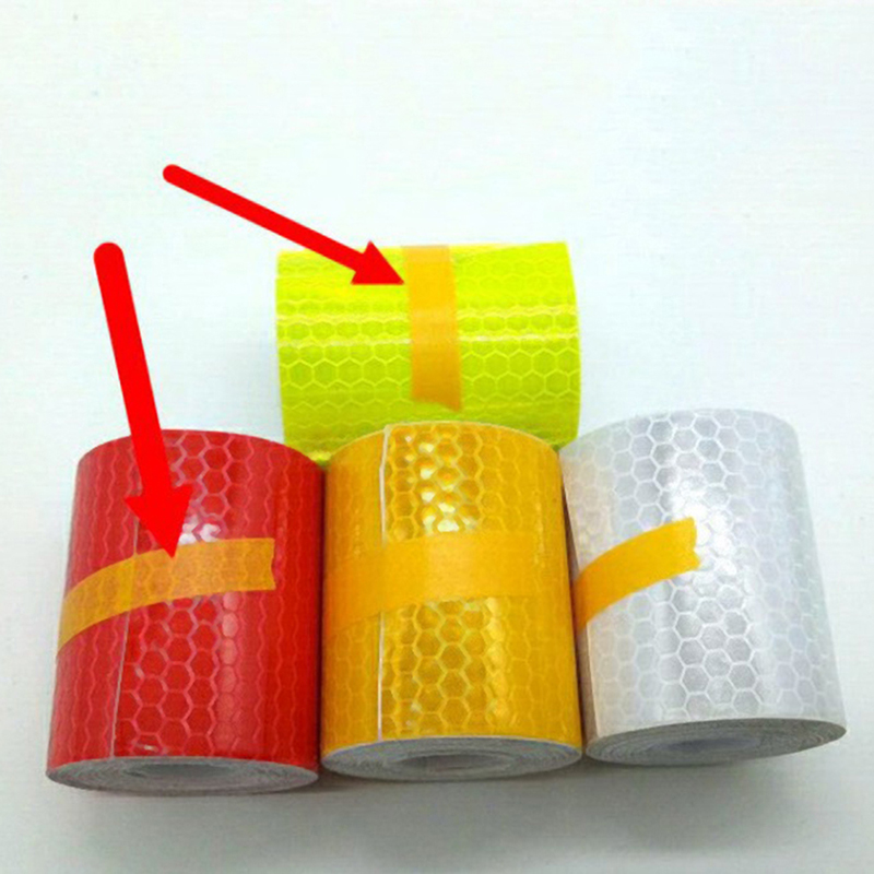 5cmx3m 4color Safety Mark Reflective Tape Sticker Car Styling Self Adhesive Warning Tape Automobiles Motorcycle Reflective Strip