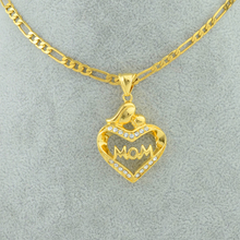 Anniyo Mom Love Baby Necklaces for Women/Girls,Great Gift Gold Color Jewelry Chain With Rhinestone for Mama Gifts #063102