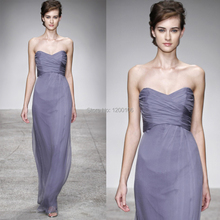 2014 Sexy Sheath Sweetheart Backless Light Purple Empire Long Bridesmaid Dresses