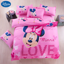 Minnie mouse Bedding Set Cover pillowcase quilt mickey cartoon Children bedclothes  bed set Disney Home textile