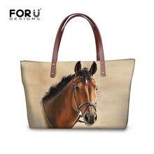 FORUDESIGNS 3D Crazy Horse Handbags For Woman Casual Travel Large Tote Bags  Animals Women Bag Messenger Bag Feminine Bolsas N 0d017afa265a0