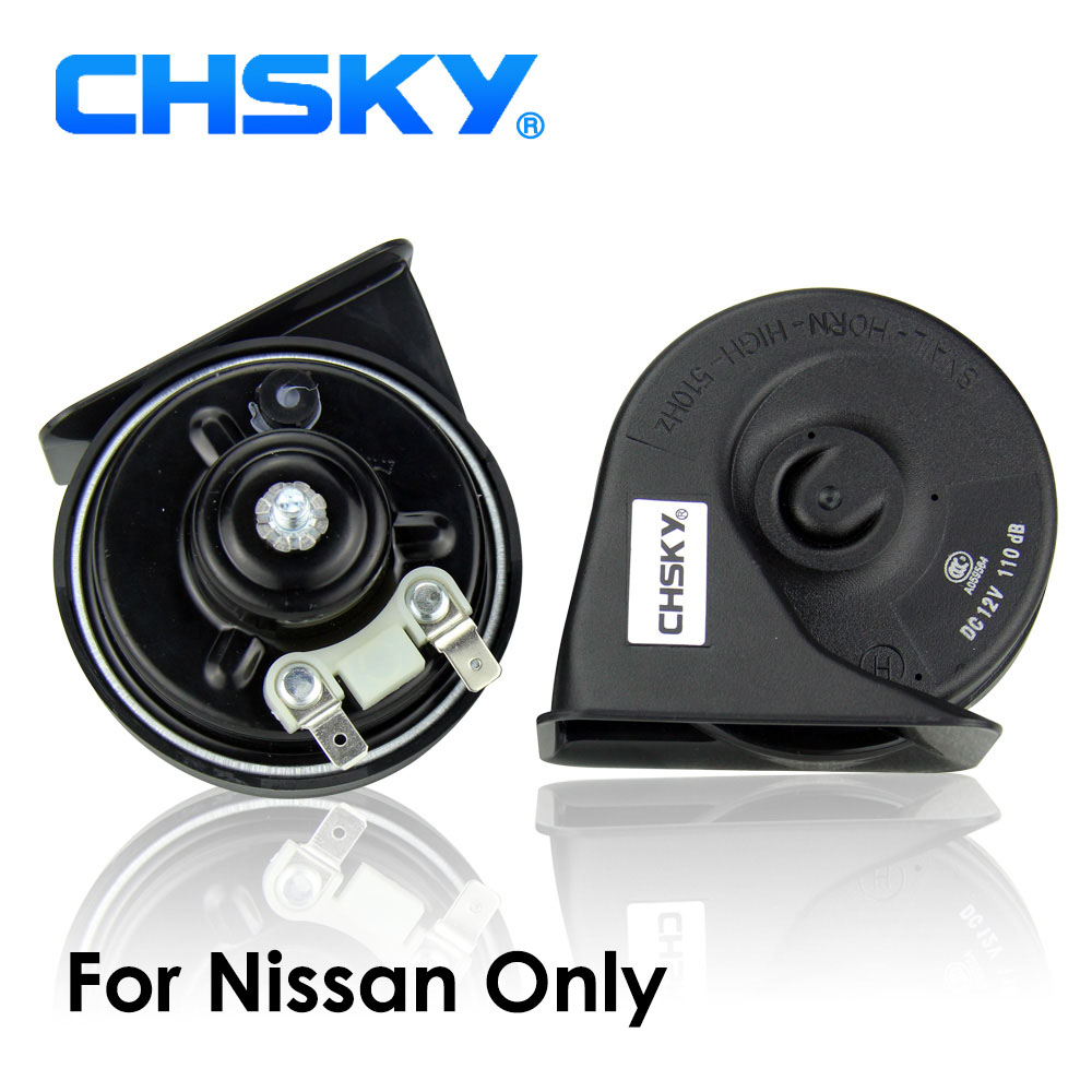 Автомобильный гудок CHSKY, спиральный гудок для Nissan Qashqai Note, Juke Altima Murano патруль Tiida Versa Pulsar первоклассный Sunny NP300 Bluebird
