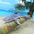 creative plush shark toy simulation big blue shark stuffed doll birthday gift about 100cm