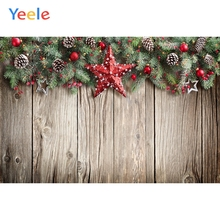 Yeele Christmas Party Photocall Wood Decors Balls Photography Backdrops Personalized Photographic Backgrounds For Photo Studio