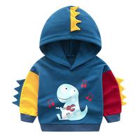 2019 fashion children hoodie baby T shirt long sleeved cartoon dinosaur printing sweatshirt boy girl casual hooded sweatshirt